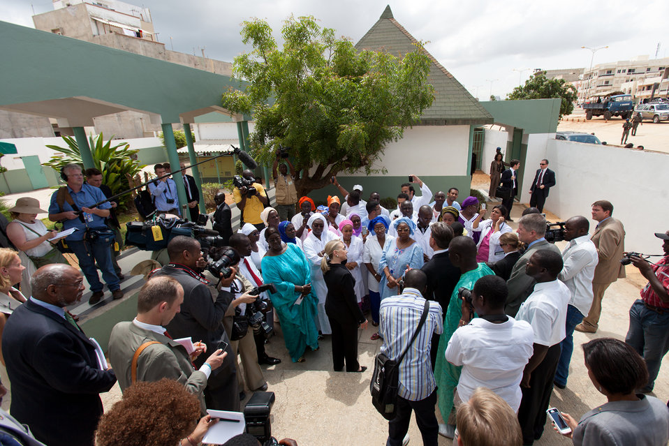 Secretary Clinton Meets with Maguilen Senghor Health Center Staff and Patients