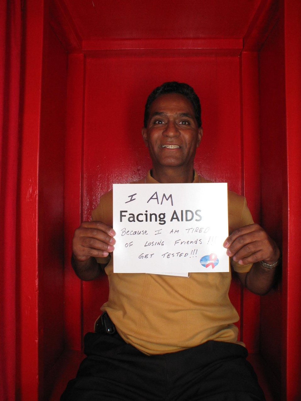 I am Facing AIDS because I am tired of losing friends... GET TESTED!!!