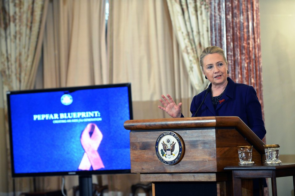 Secretary Clinton Delivers Remarks in Recognition of World AIDS Day