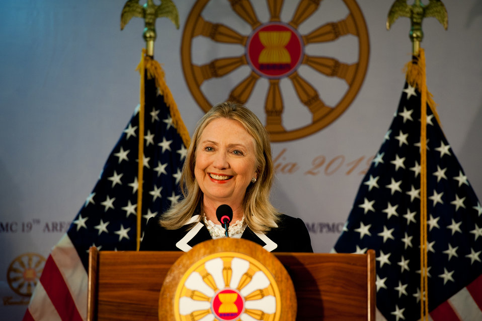 Secretary Clinton Addresses the Press
