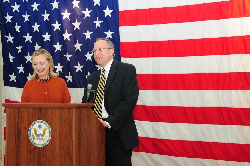 Ambassador Krol Introduces Secretary Clinton