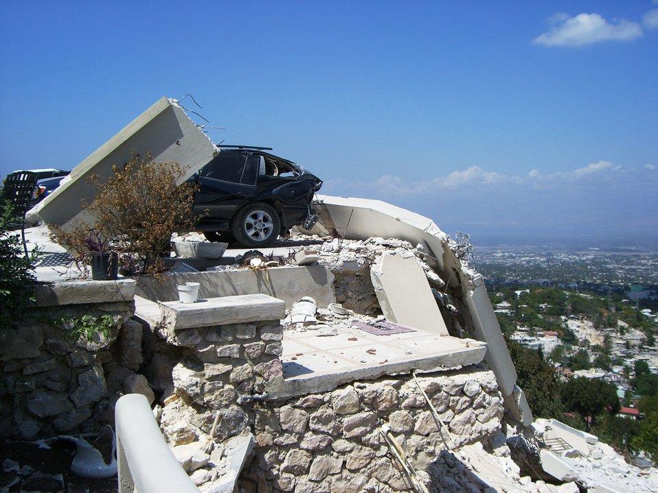 A Photo Shows the Aftermath of Haiti Earthquake