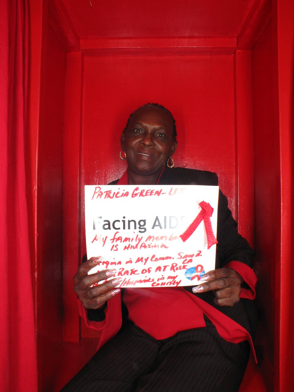Facing AIDS my family member is HIV positive. Sitgma in my community.