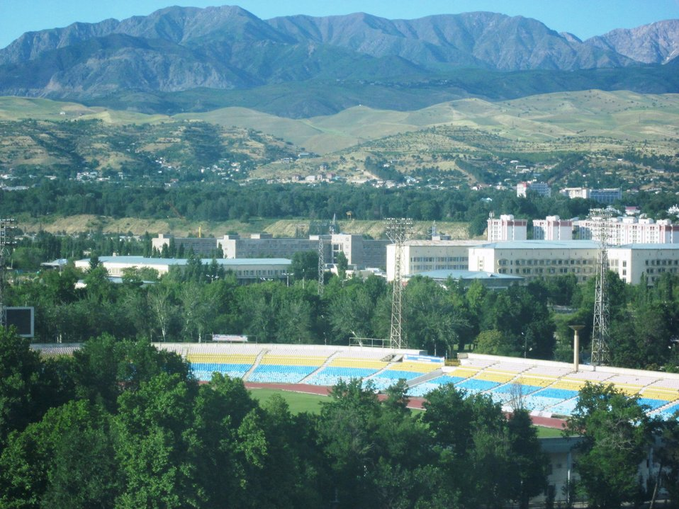 A Photo is Take of the Dushanbe Landscape