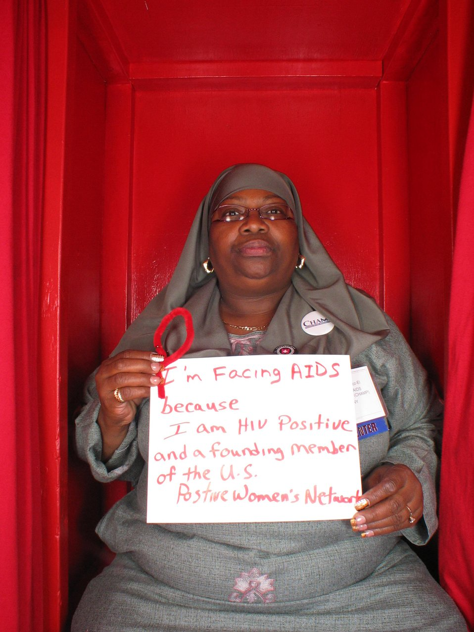 I am Facing AIDS because I am HIV positive and founding member of the US Positive Women's Network.