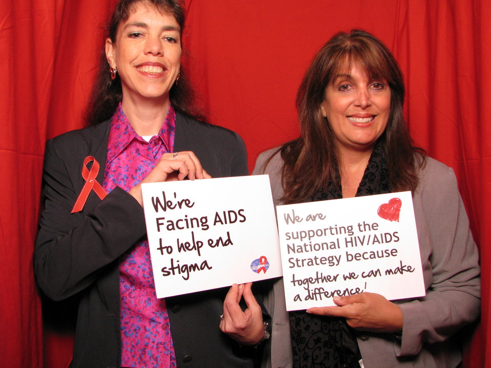 We're Facing AIDS to help end stigma. We are supporting the National HIV/AIDS Strategy because together we can make a difference!
