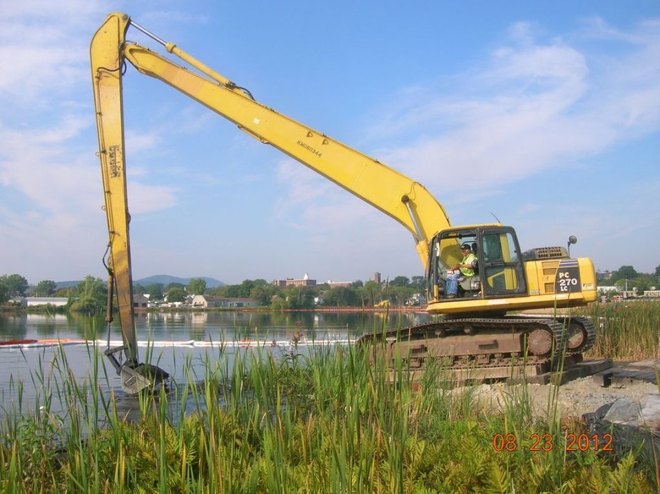 September 2012, Excavation continues in Silver Lake, Pittsfield, MA