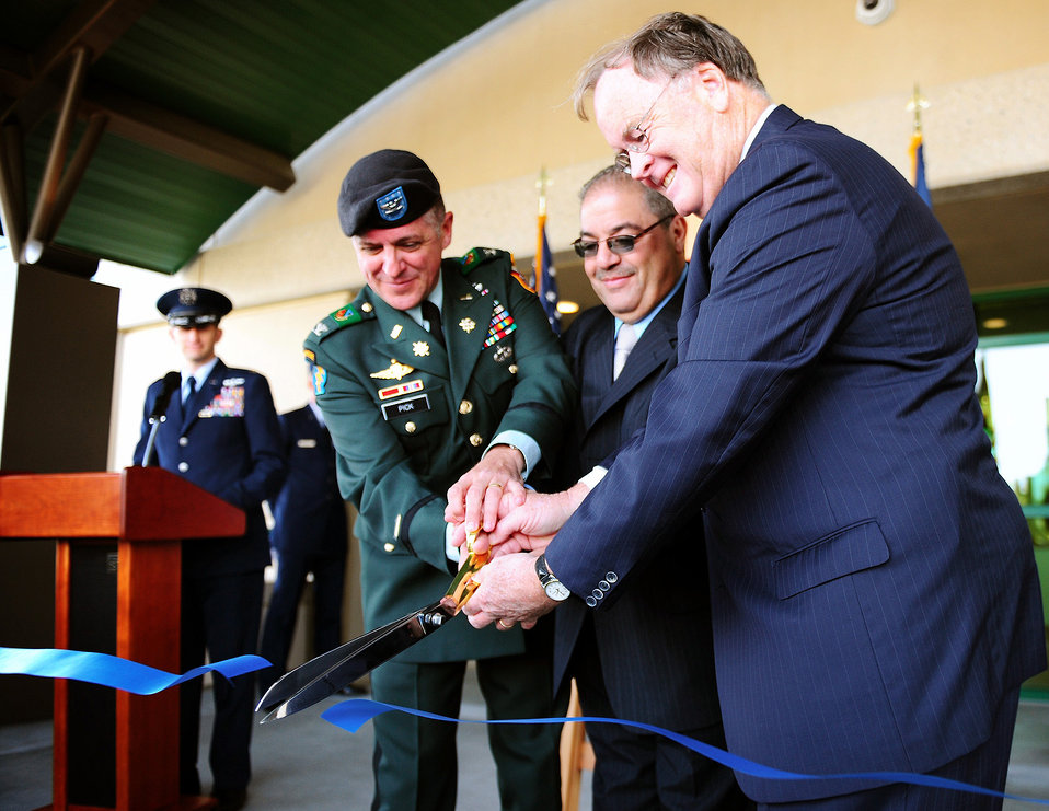 Dedication for Corps-built building at Monterey