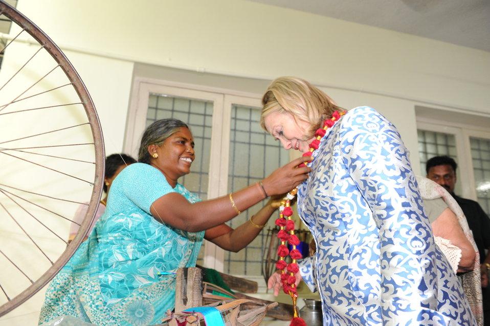 Secretary Clinton Receives an Honorary Garland