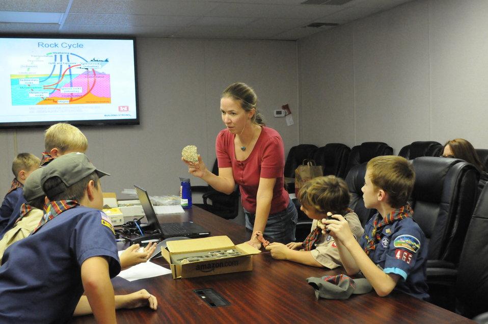 Cub Scouts Earn Geology Badge