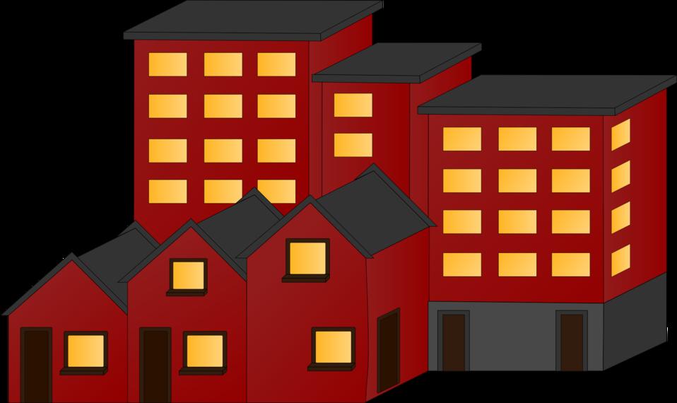 public domain clip art image illustration of brick buildings id 13504552819340. Black Bedroom Furniture Sets. Home Design Ideas
