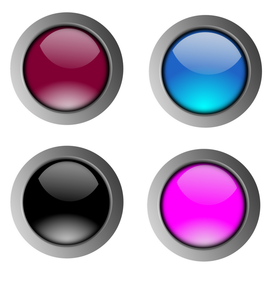 Illustration of colorful blank buttons