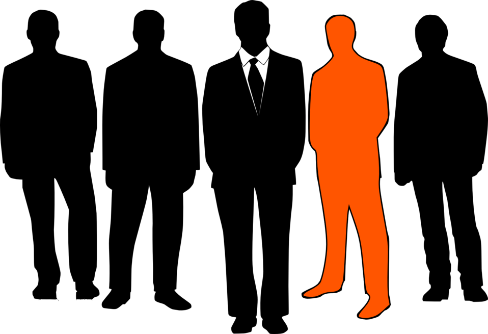 Illustration of male silhouettes