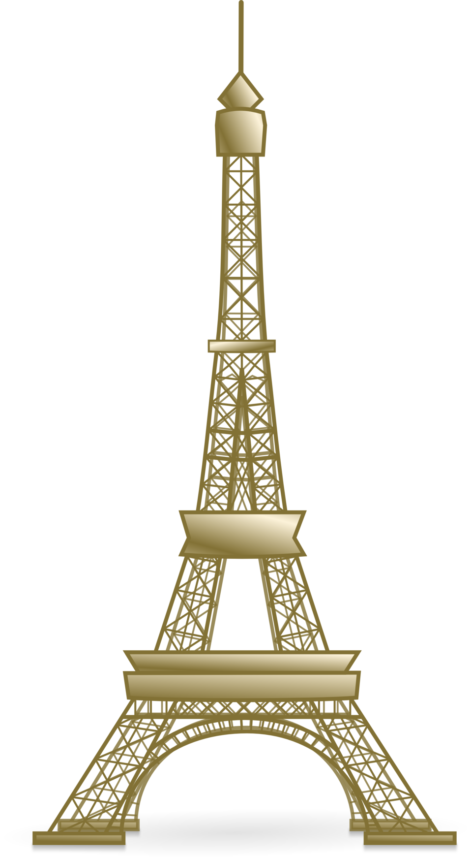Public Domain Clip Art Image | Illustration of the Eiffel ...