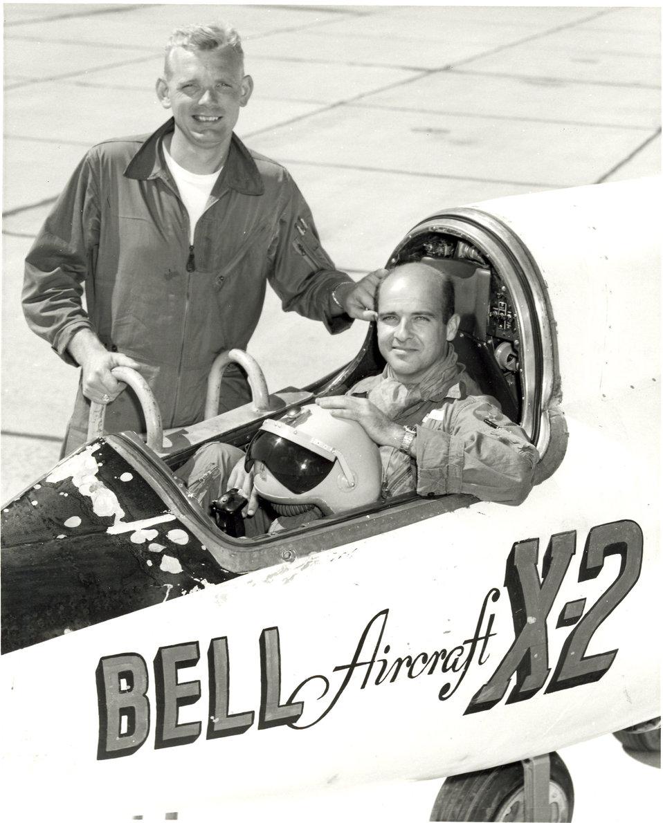 X-2 pilots, Capts. Iven Kinchloe and Mel Apt