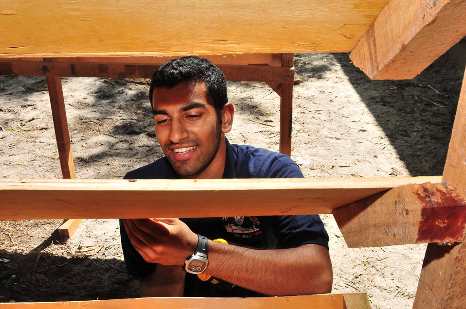 UVA Student Volunteer Dave Gupta Builds Bookcases