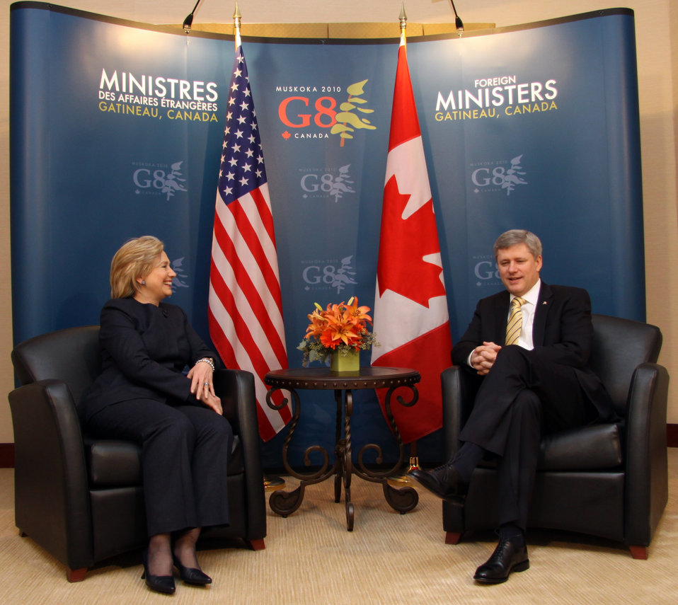 Secretary Clinton Meets With Canadian Prime Minister