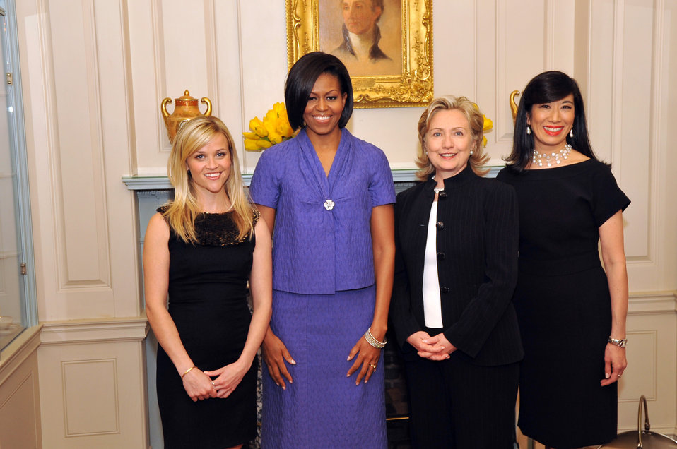 Secretary Clinton With Reese Witherspoon, First Lady Michelle Obama and Andrea Jung