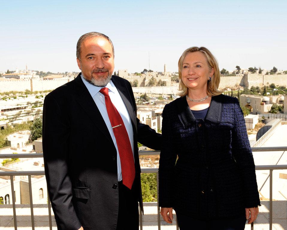 Secretary Clinton Meets With Israeli Foreign Affairs MInister Lieberman