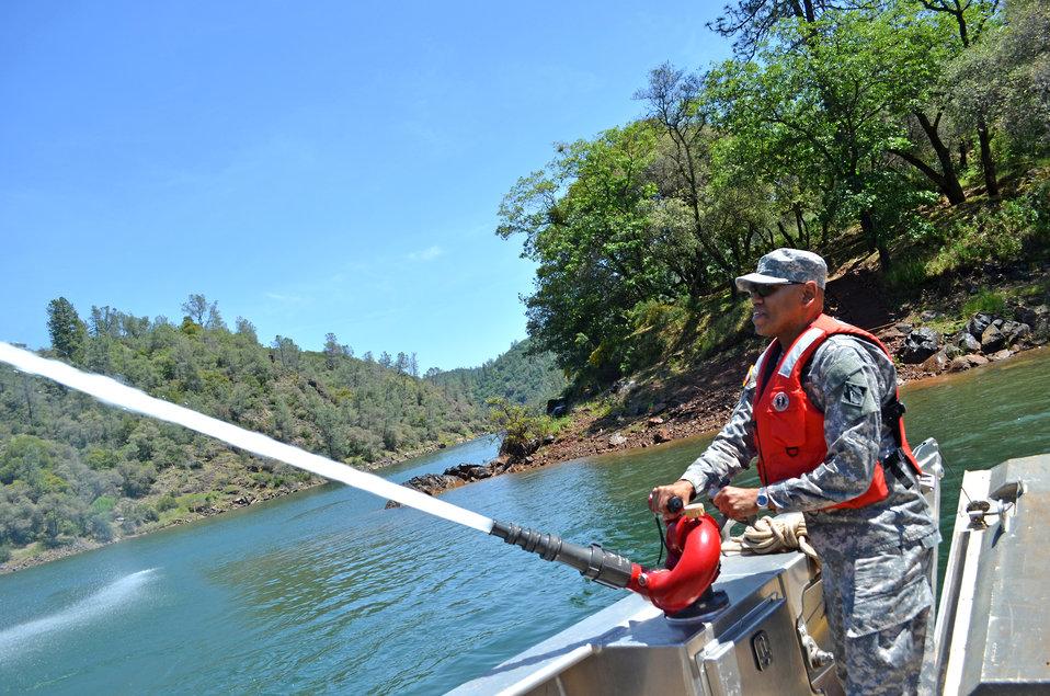 Brig. Gen. David Turner tours Englebright Lake