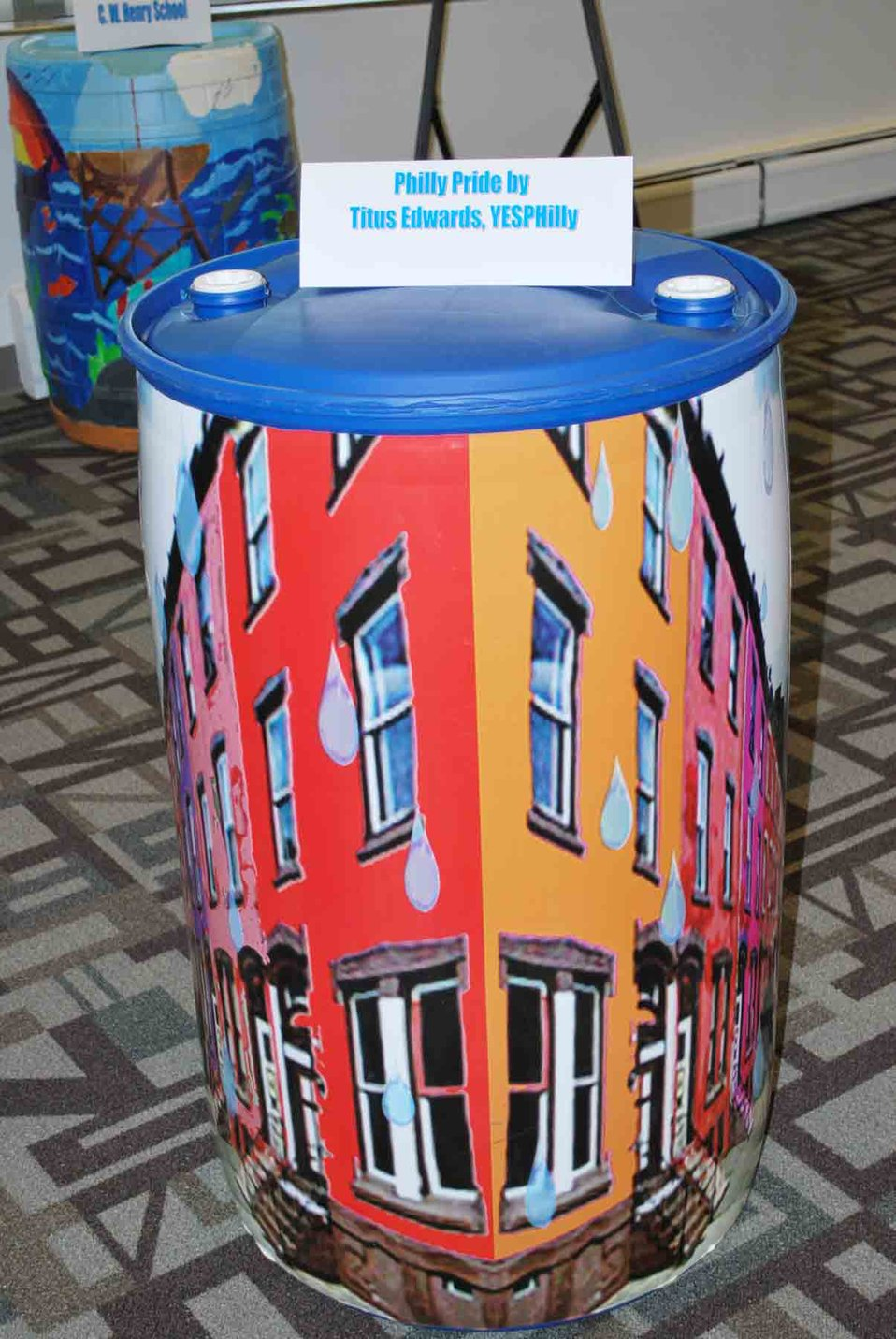 'Philly Pride' shown off by rain barrel