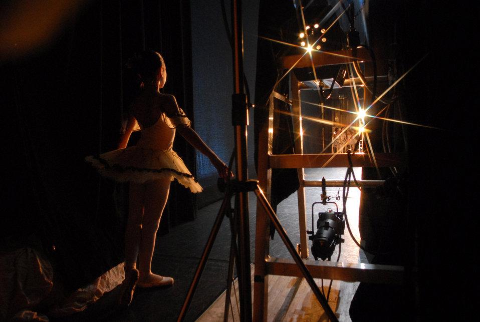 Ballerina at backstage