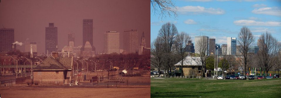 Moakley Park, South Boston, MA 1973 and 2012