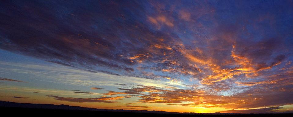 Arizona sunrise panorama 7-22-12