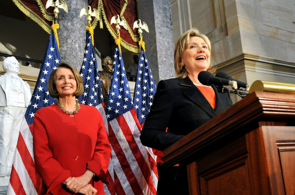 Secretary Clinton With House Speaker Nancy Pelosi