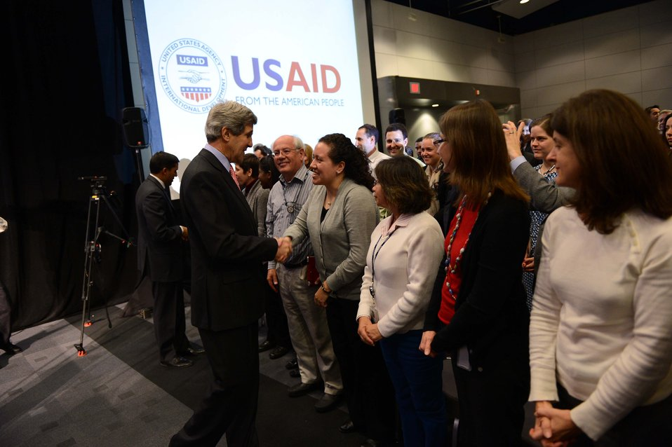 Secretary Kerry Speaks With USAID Employees