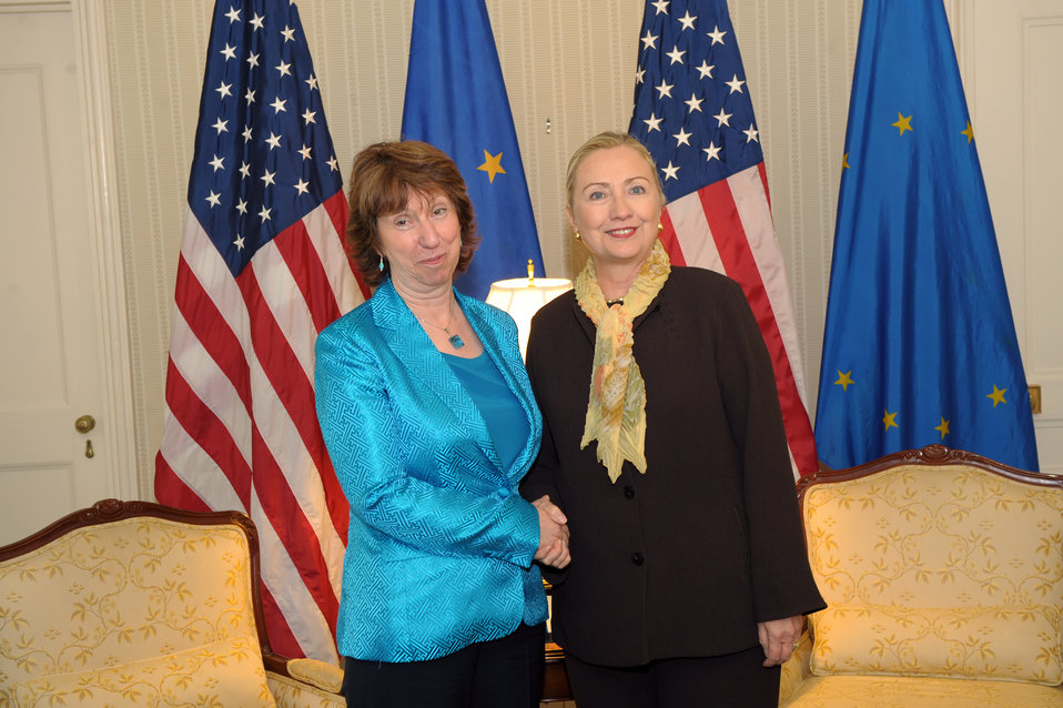 Secretary Clinton Meets With EU High Representative Catherine Ashton