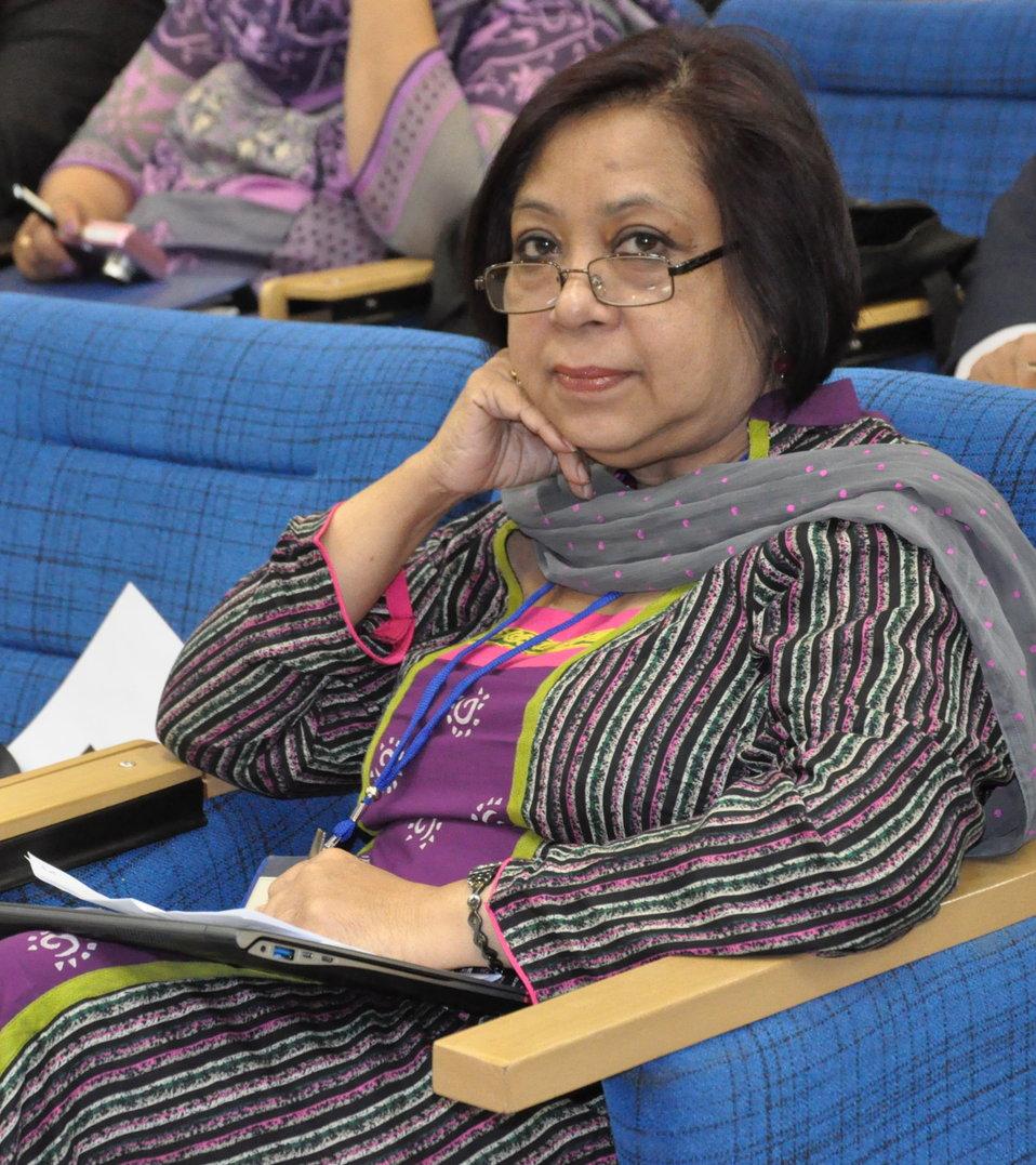 Delegate Tasneem Athar, representing CAMPE, Bangladesh