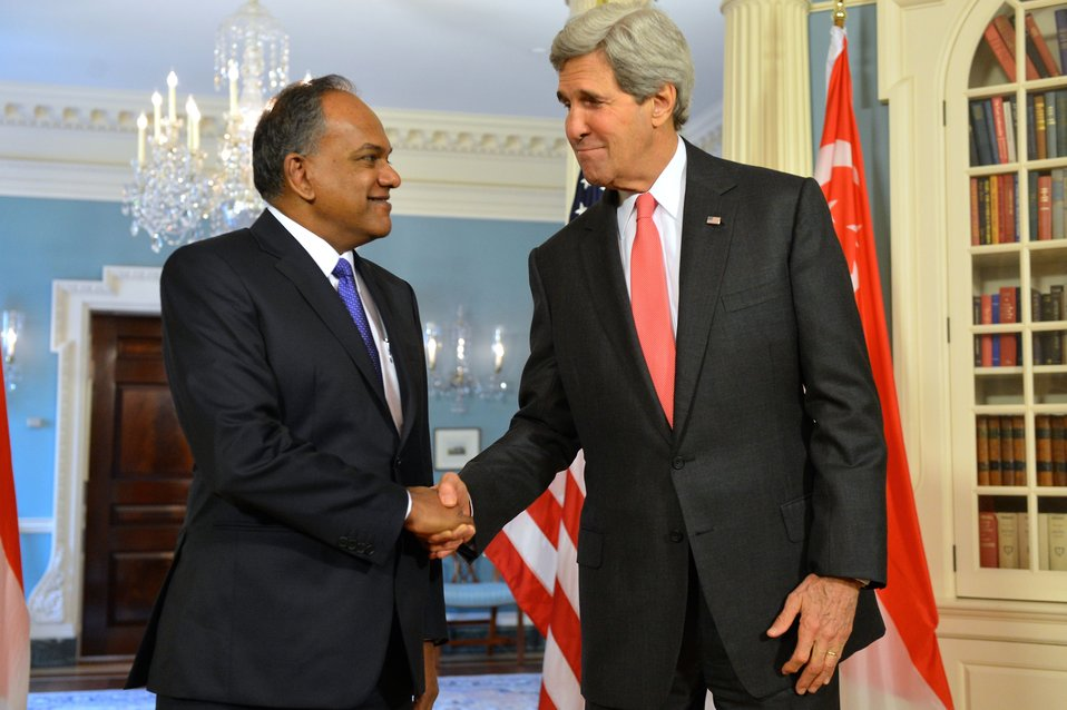 Secretary Kerry Meets With Singaporean Foreign Minister K. Shanmugam