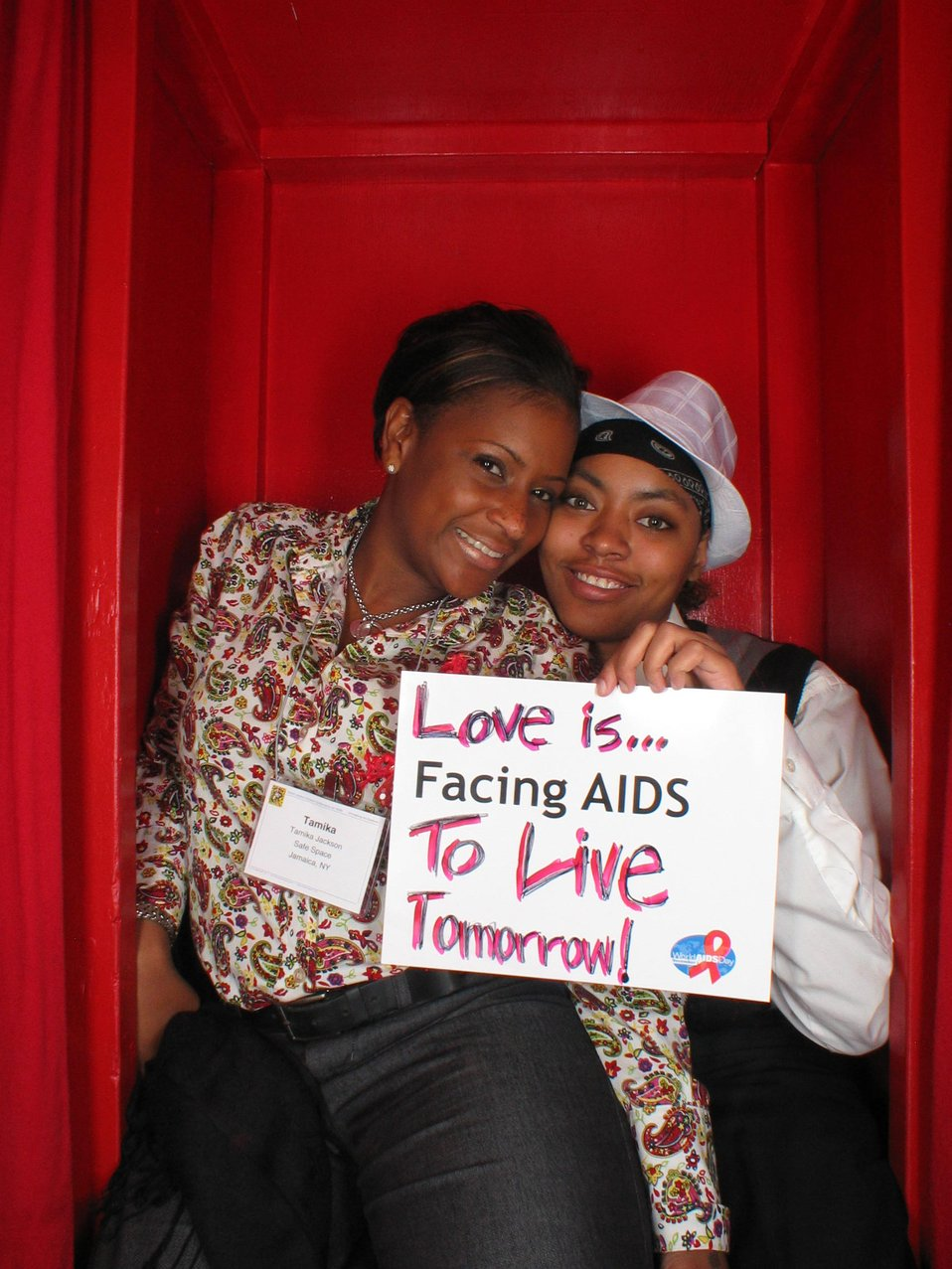 Love is Facing AIDS to live tomorrow!
