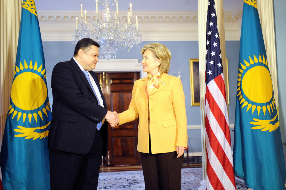 Secretary Clinton Meets With Kazakh Foreign Minister