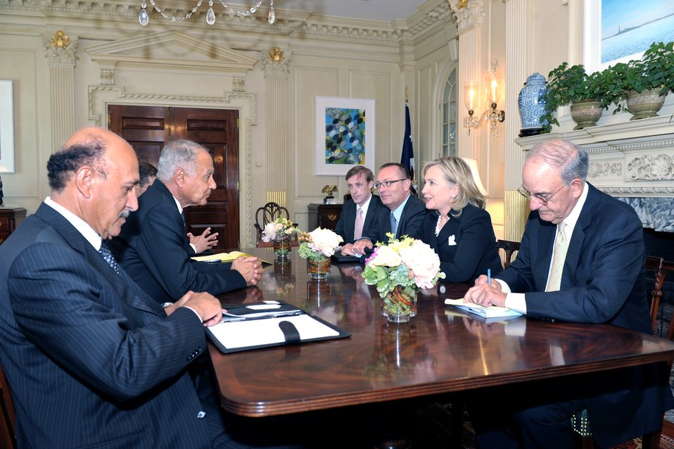 Secretary Clinton Holds a Bilateral Meeting With Egyptian Foreign Minister Gheit