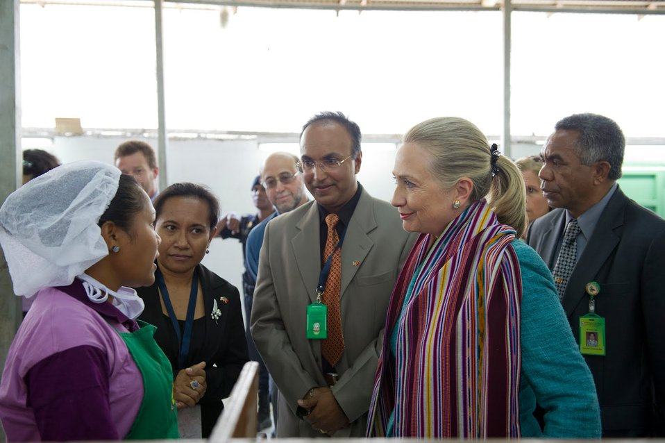 Secretary Clinton at Cooperativa Cafe Timor