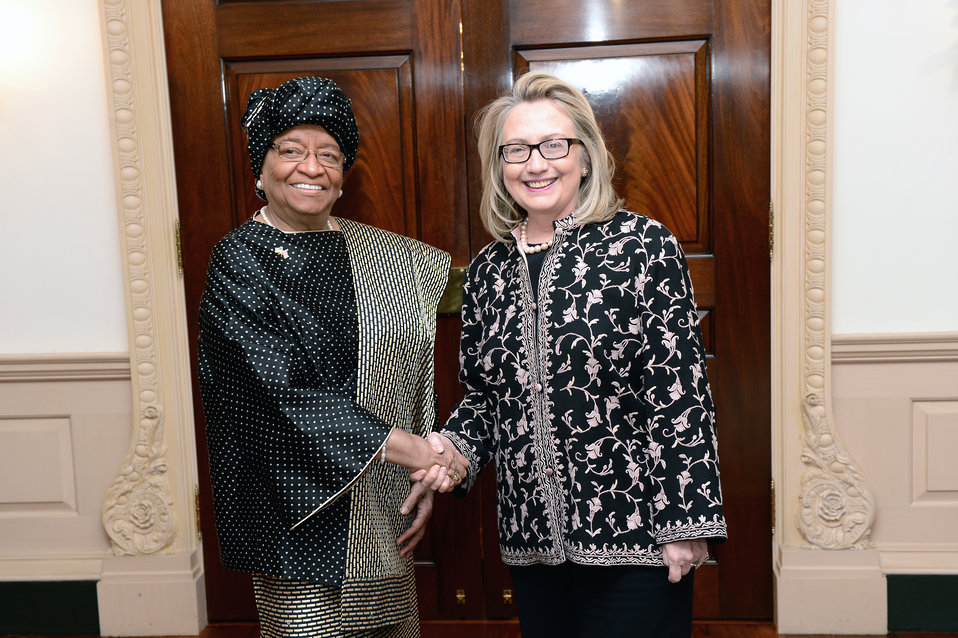 Secretary Clinton Meets With Liberian President Sirleaf