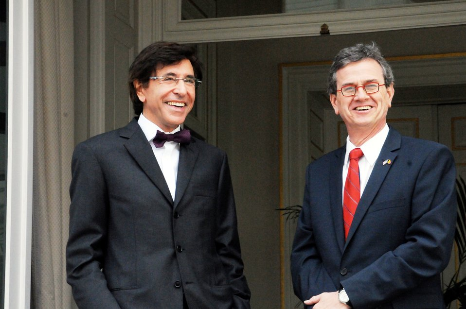 Ambassador Gutman and Belgian Prime Minister Di Rupo Prepare To Welcome Secretary Clinton
