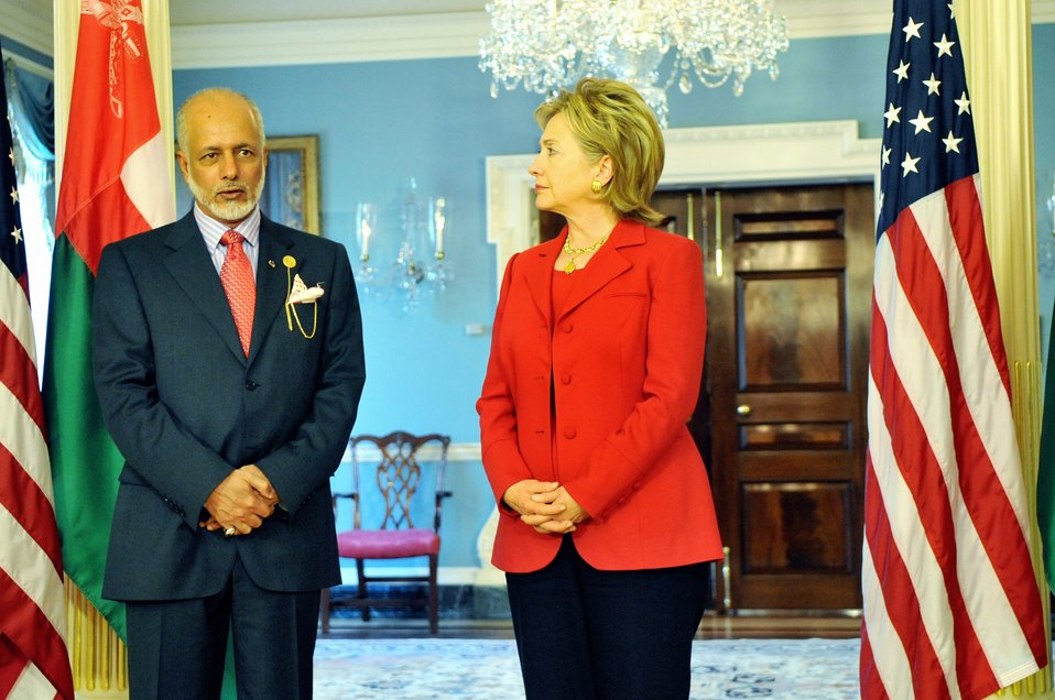 Secretary Clinton Meets Omani Foreign Minister