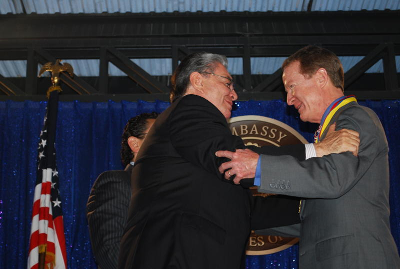 Colombian Minister of Interior Fabio Valencia Cossio Honors Ambassador Brownfield