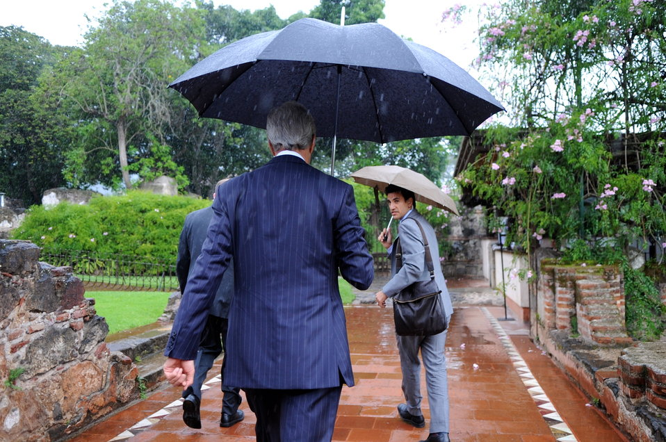Secretary Kerry Dodges Rain Between OAS Meetings