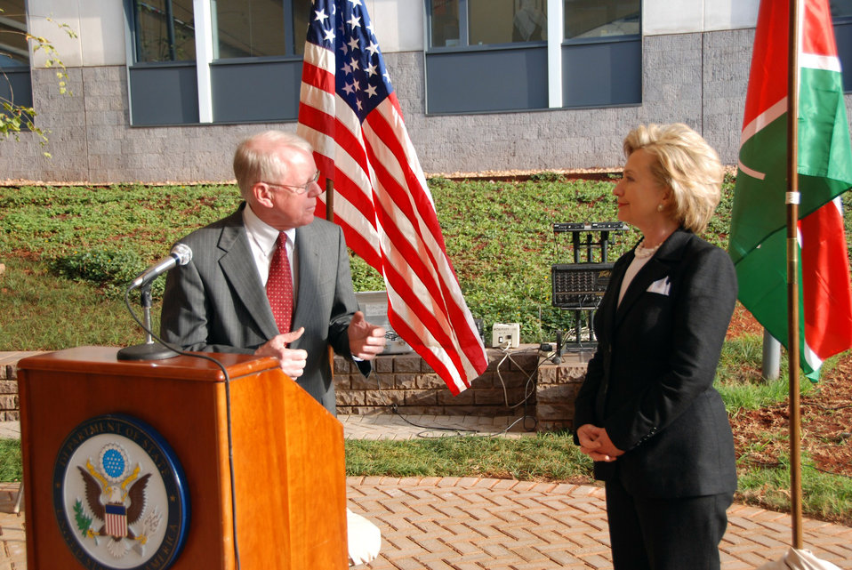 Secretary Clinton Addresses U.S. Embassy Staff in Kenya