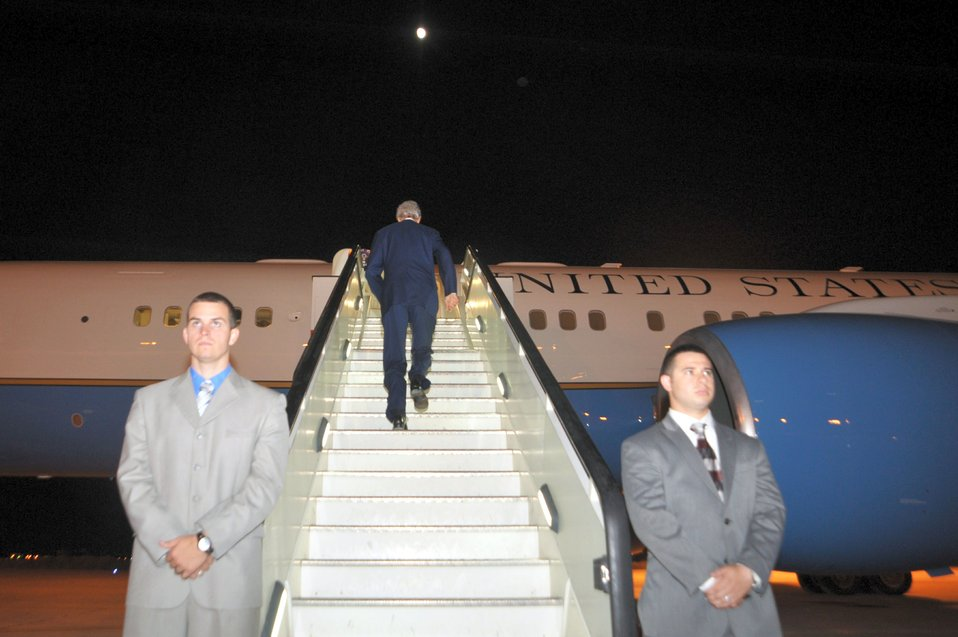 Secretary Kerry Prepares To Depart Amman, Jordan