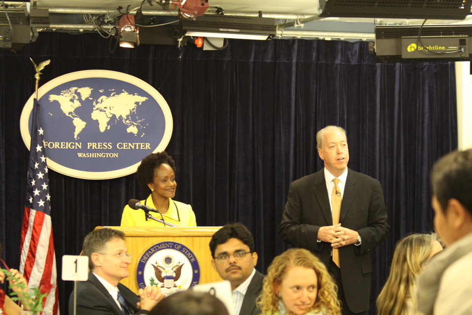 Assistant Secretary Brimmer Speaks to a Group of Foreign Journalists