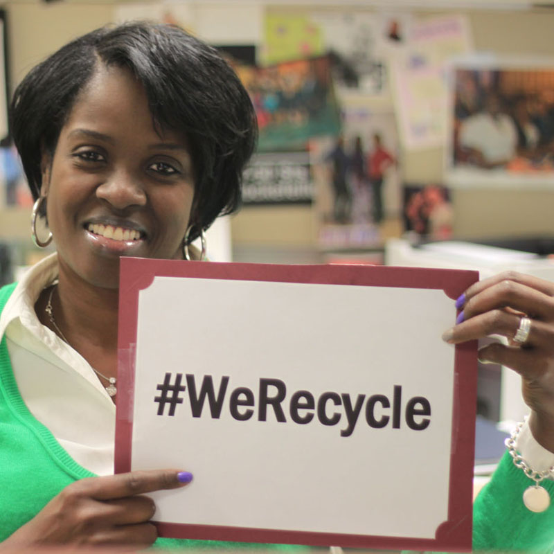 EPA Employee Valerie Recycles