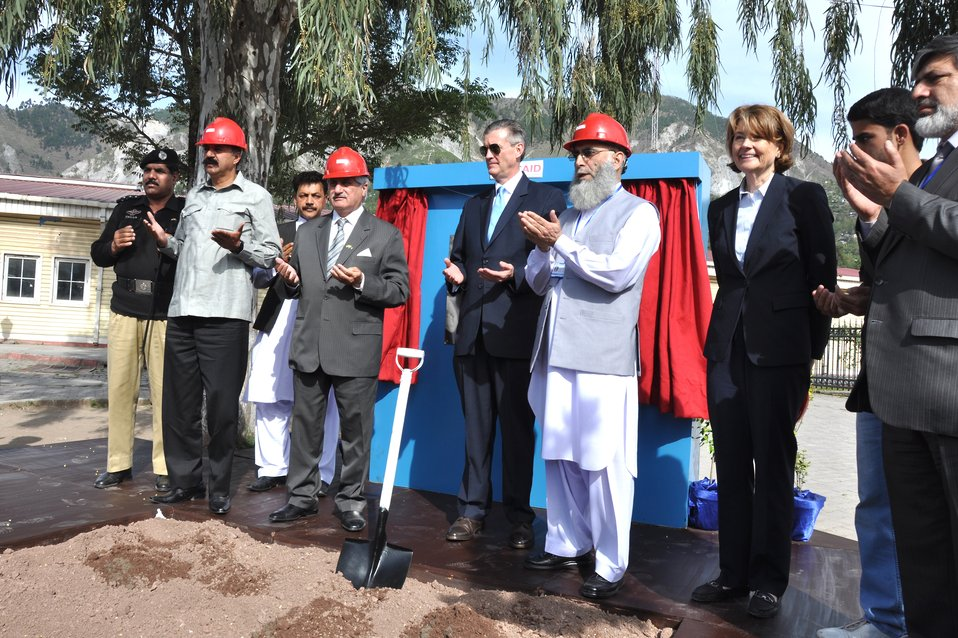 The United States Ambassador to Pakistan, Richard Olson broke ground for a U.S. funded construction of a new Faculty of Education building in Muzaffarabad, AJK.  22