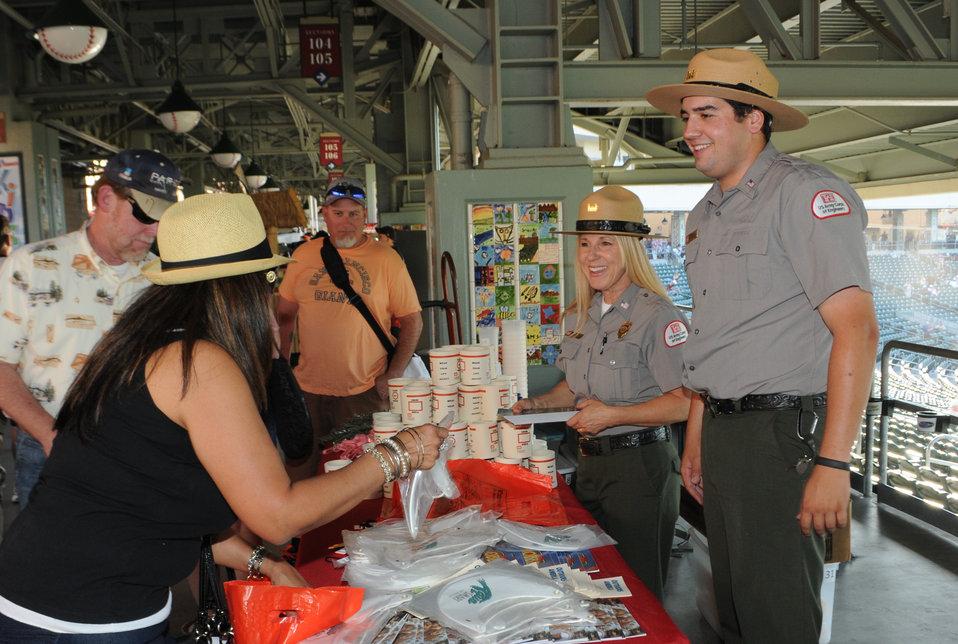 Sacramento District park rangers representing