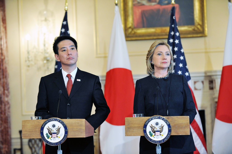 Secretary Clinton and Japanese Foreign Minister Fseiji Maehara Host a Joint Press Availability