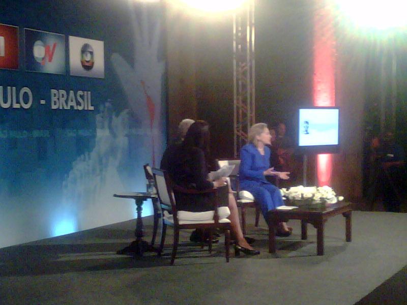 Secretary Clinton Participates in Sao Paulo Townterview